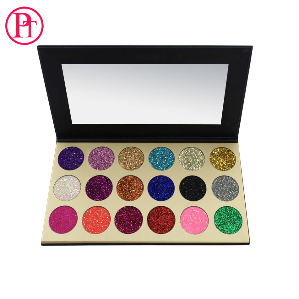 Private Label 18 Color Makeup Cosmetics no brand makeup Glitter Eyeshadow Palette