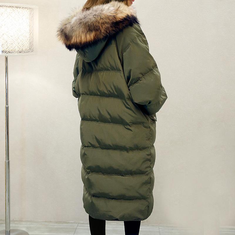 2016 font b Winter b font Elegant Women High end Down Jacket Hooded Fur collar Thicken