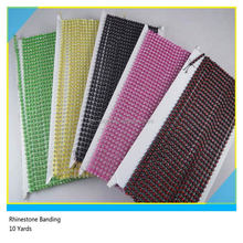 Card Packing Plastic Rhinestone Banding Colorful Crystal Plastic Chain