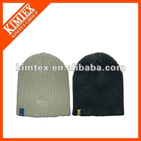 Black Unique Men Hats With Woven Lable