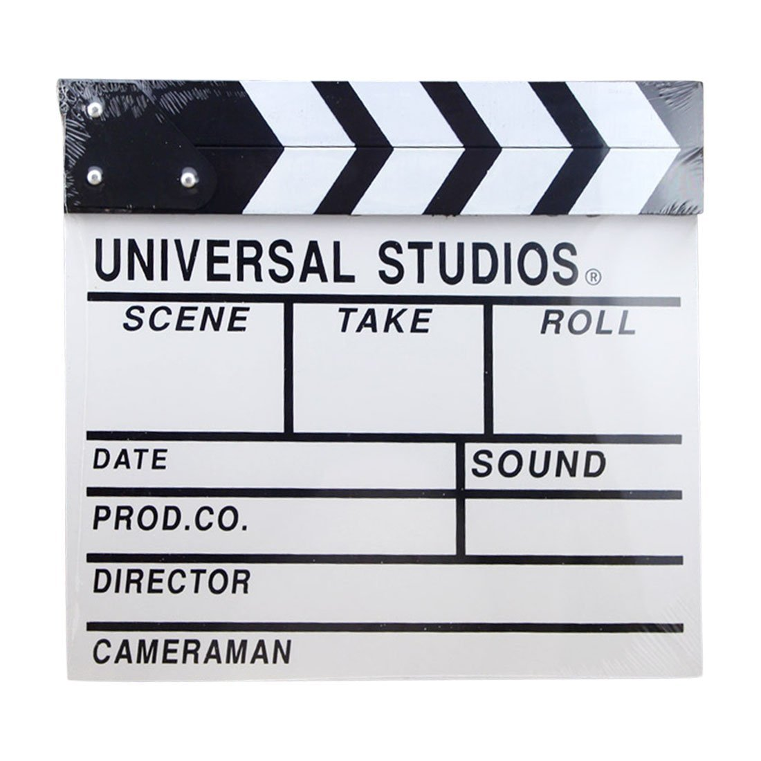 "Clapboard, Yamix Wooden Director Film Clapboard Director Film Movie Cut Action Scene Slate Board Clapper Board Slate 12.2"" X 11"