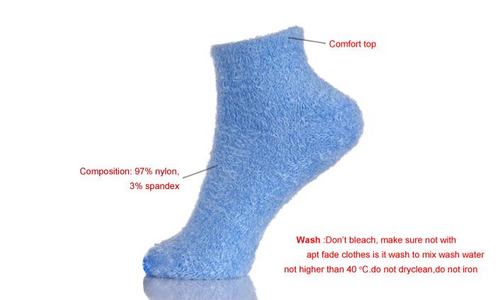 时尚室内地板定制保暖模糊袜子