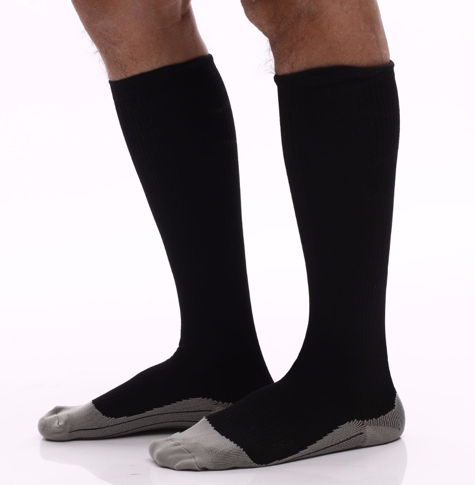 26bbec8b04 Black Sports Compression Socks for Men Recovery Performance Football  Compression Socks