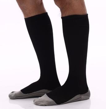 79cd0a2041500 Черные Спортивные Компрессионные носки для мужчин восстановление  производительности Футбол Компрессионные носки