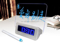 Scribble Memo Board Alarm Clock with Mood Light