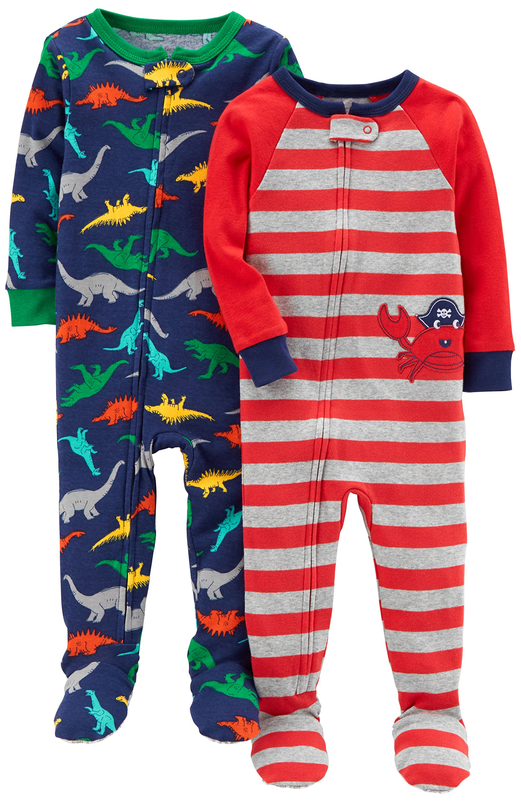 Get Quotations · Carter s Baby Boys  2-Pack Cotton Footed Pajamas 186f4ead0
