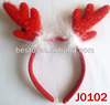 2013 Best selling red LED animal christmas headband