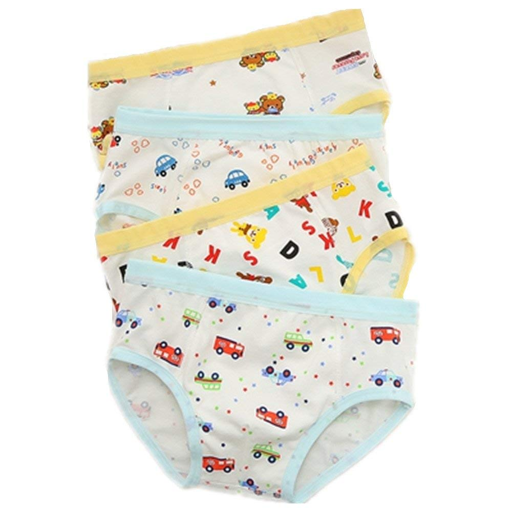 INTERESTPRINT Kids Cute Panda Comfortable Breathable Briefs 5T-2XL