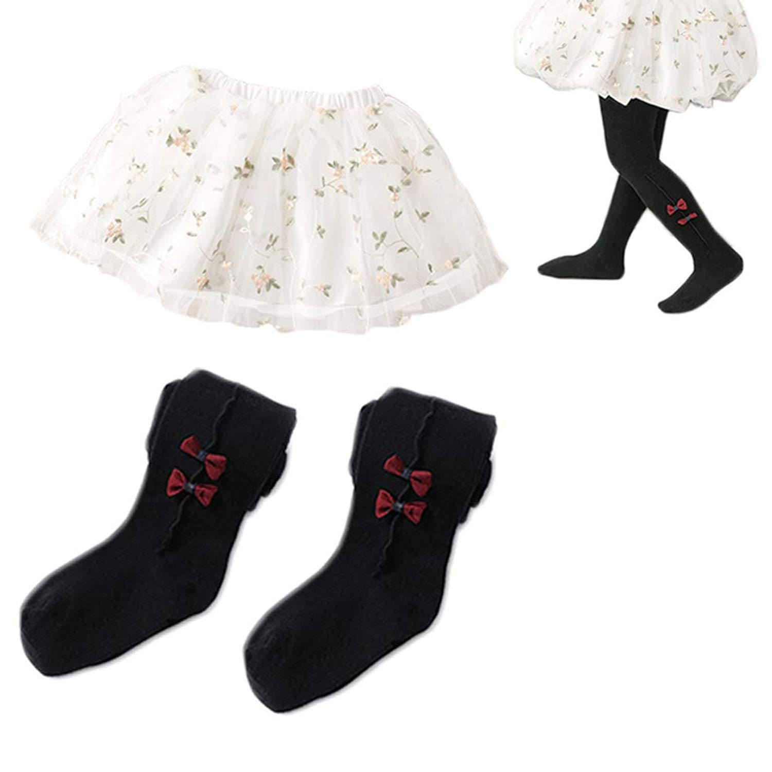027abe76276 Get Quotations · Gracmyron Baby Girl 3 Layer Tulle Tutu Skirt, Leggings  Pants Stockings Tights Panties for 6M