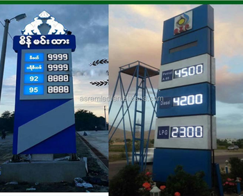 High Quality Led Gas Price Sign Outdoor Digital 7 Segment Red Color Gas  Station Price Sign Led Digit Number Sign Led Bp Gas - Buy Led Signs For Gas