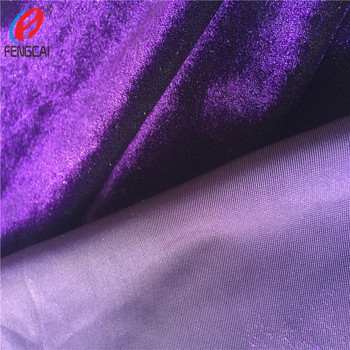 Warp Machine Produce 10% Spandex 90% Polyester Stretch Velvet Fabric , Korea Fleece Fabric