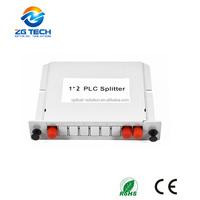 FTTH Internet service providers supply 1x2 optic fiber single mode cable plc splitter