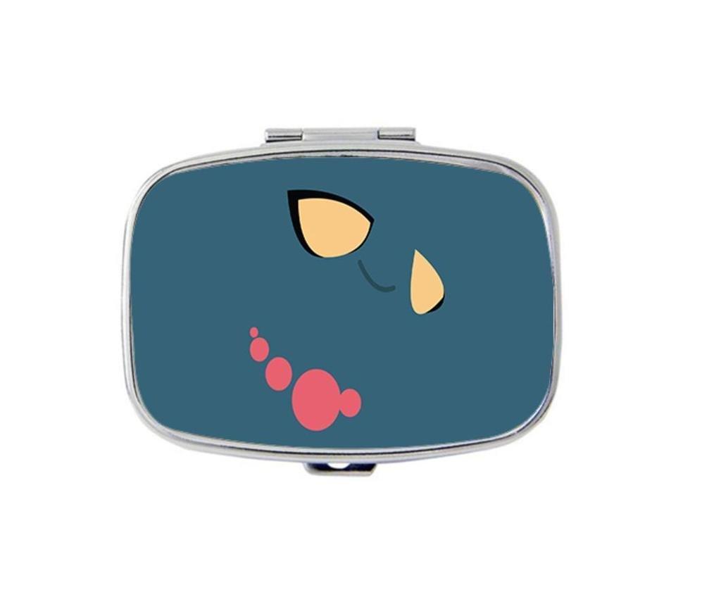 Carvin Design Pokemon Custom Personality Square Medicine Pill Vitamin Box Case Storage Dispenser Organizer Holder