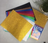 Glitter cardstock for making Letter Banners / ornament shapes / DIY paper crafts