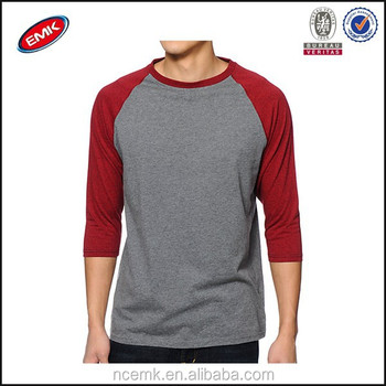 Raglan Baseball T Shirt With Long Sleeve T Shirt Color ...