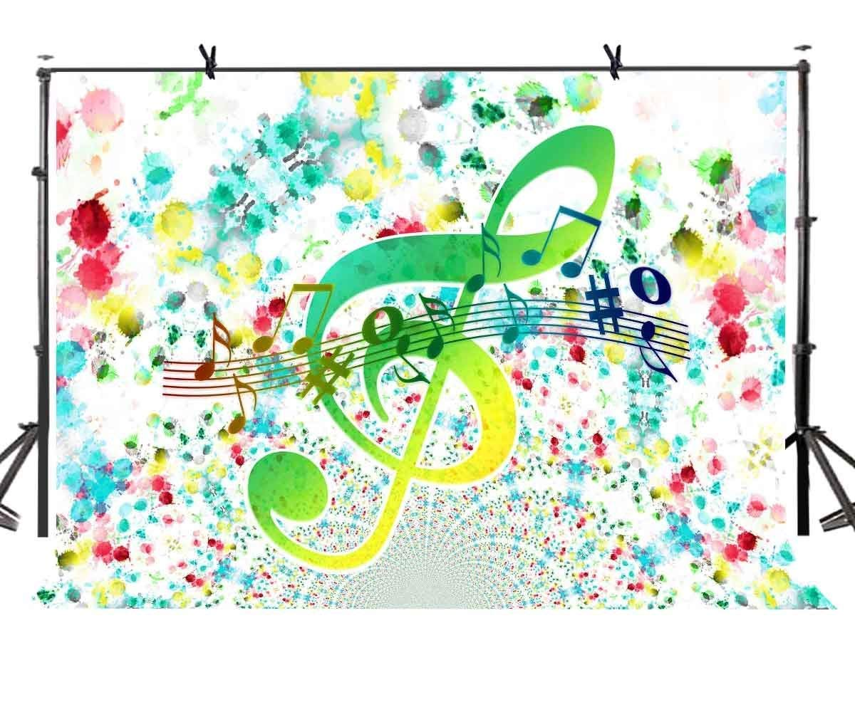 ERTIANANG 150x220cm Abstract Painting Backdrop Music Symbol Abstract Painting Unique Photographic BackgroundPhoto Screen