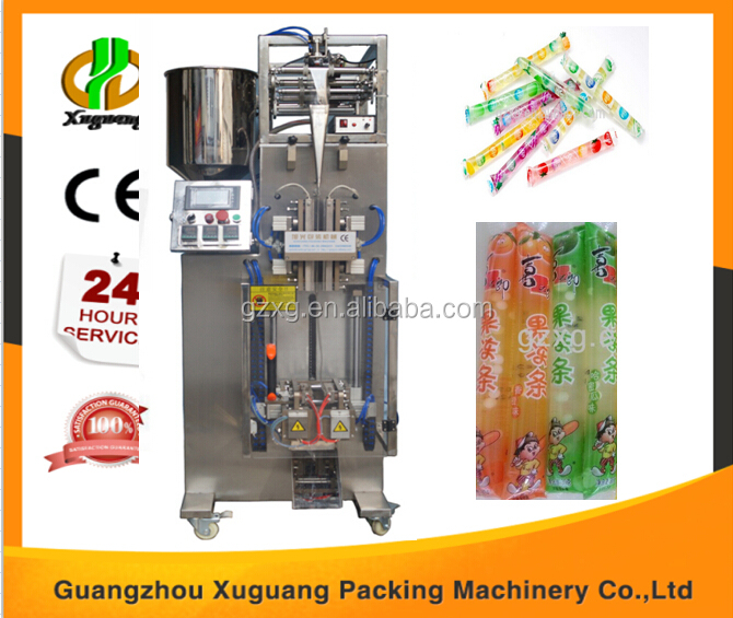 Liquid soft drink stick bag filling sealing and packaging machine