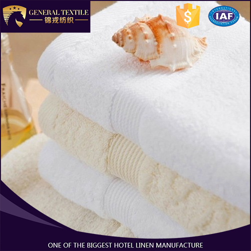 100% Cotton terry fabric 16S/1 plain white design hotel bath towle