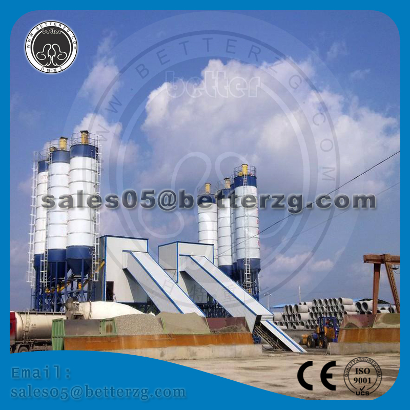 China Henan province HZS60 concrete batching plant