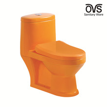 Ceramic sanitary ware orange color kindergarten toilets for children