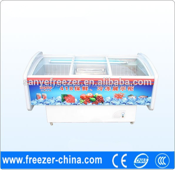 Factory sale hight guality and low price fresh-keeping refrigerated beverage display cabinets used in supermarket or store