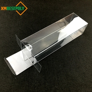 Clear plastic PVC PET folding box with customize printing gold stamping acceptable