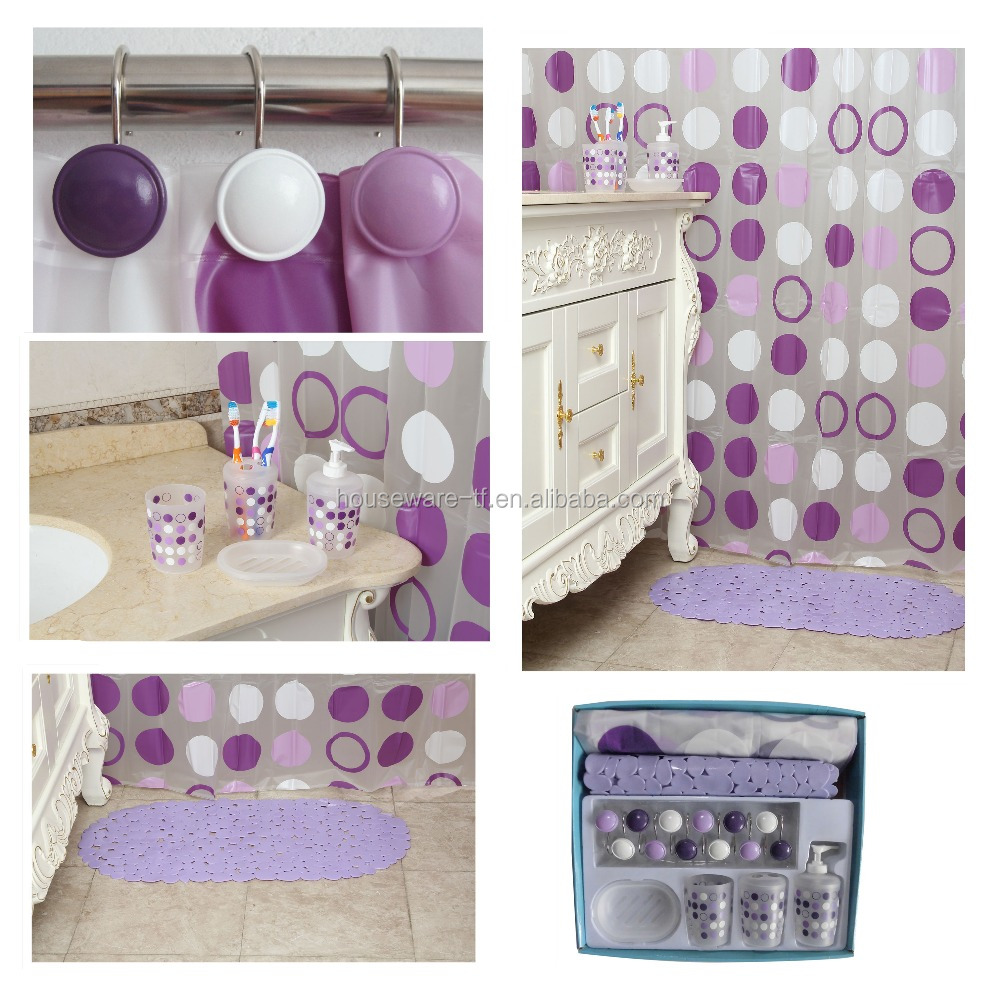 purple bathroom accessories set, purple bathroom accessories set