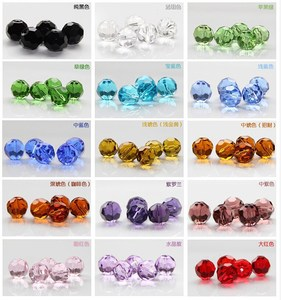 6mm Faceted jewelry beads machine cuts beads crystal prism beads
