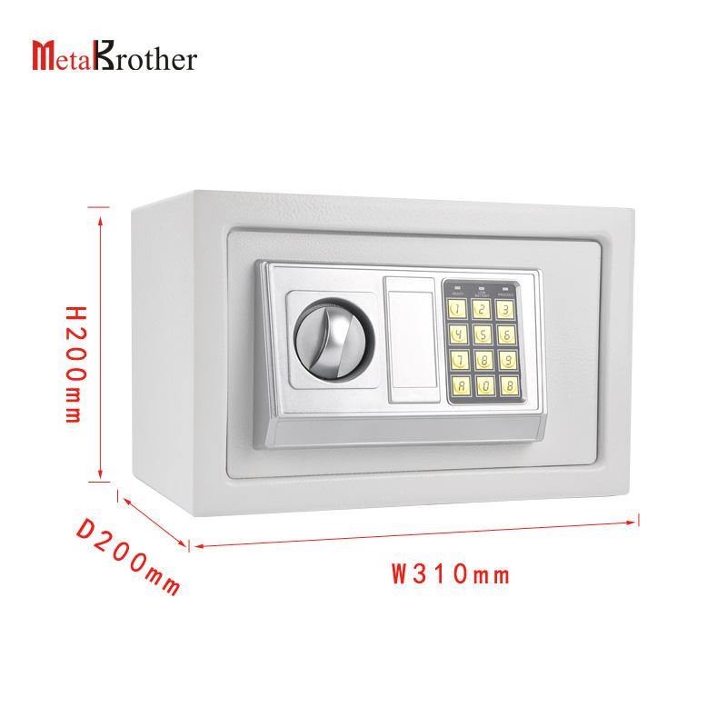 Gran caja fuerte de seguridad electrónica Caja de seguridad Hogar ignífugo acero