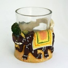 Handmade 3D India Goa Elephant Souvenir Transparent Shot Glass with Poly Resin Wine Holder