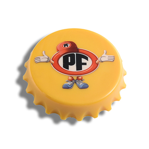 custom cheap bulk round shaped bottle cap opener manufacture