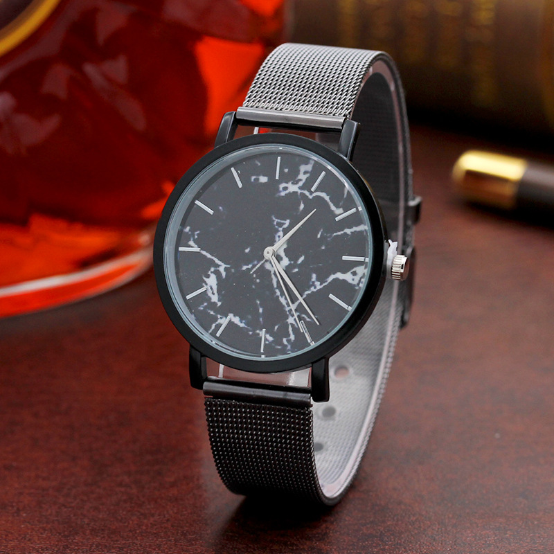 Low Price Alloy Strap Marble Look Face Hot Fancy Wrist Watch For Men MM001 фото