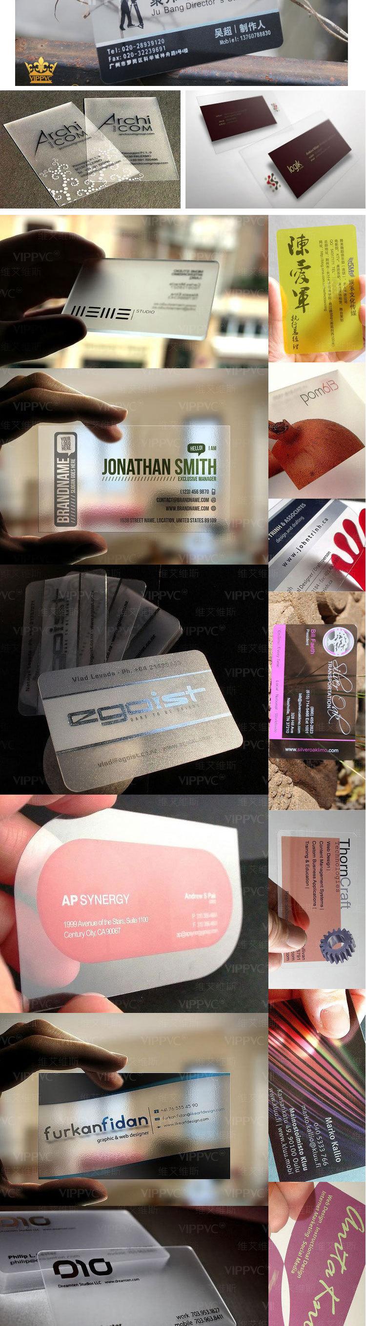 Pvc Transparent Card,Thick Plastic Business Cards - Buy Pvc ...