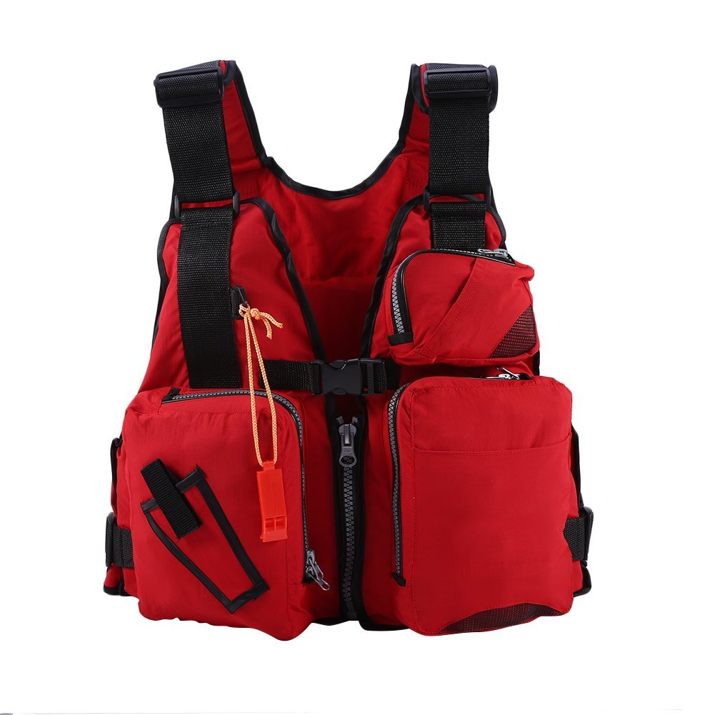 Fishing Life Jackets Life Vests for Adult Men Buoyancy Aid Vest Swimming Boating Kayak Life Jacket Vest Fishing Safety Life Jacket with Whistle Women Youth Boating Vest Sailing Drift Suit