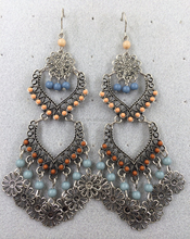 holiday chandelier style earring,shoulder duster style