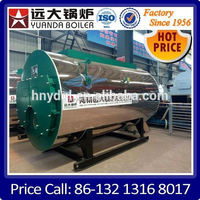 Steam Output and Horizontal Style gas burned steam boiler
