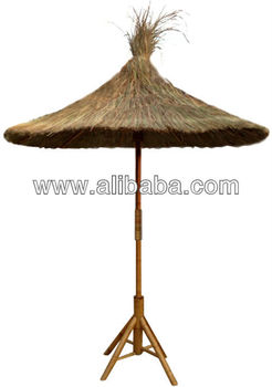 Tropical Real Thatch Roof, Thatched Patio Umbrella With Cover. Thatch Reed  Cover, Palm