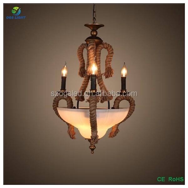 Creatif Vintage Or Fer Pendentif Lumiere Inde Style Lampe Suspendue
