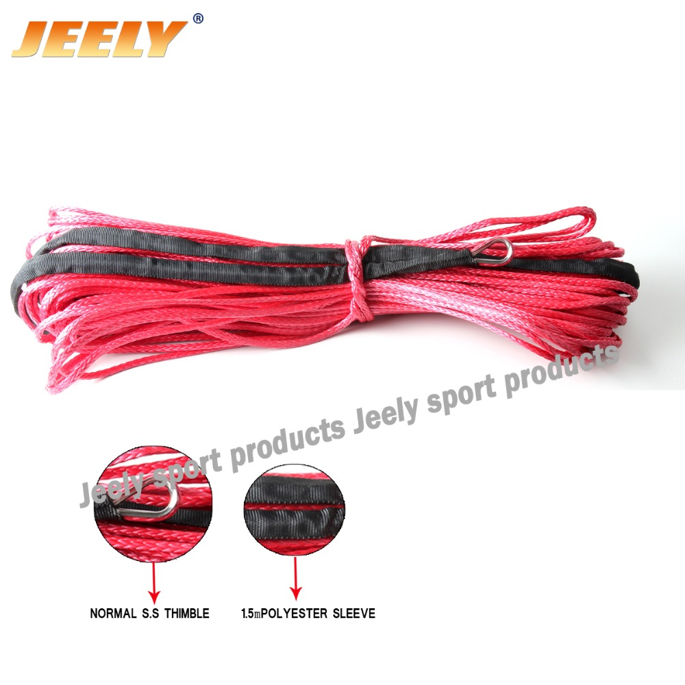 3/8''x80' ATV/UTV/SUV/4X4/4WD Synthetic Winch Rope 12-Strand Braid UHMWPE Cord