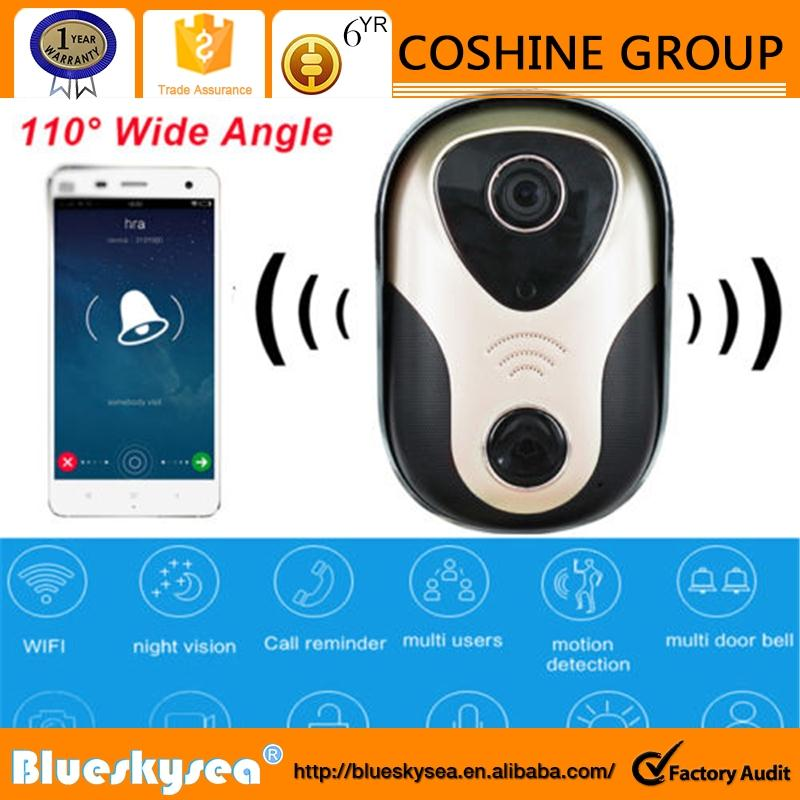 New Wireless WiFi DoorBell Video 720P Camera Door Phone Visual Intercom Monitor