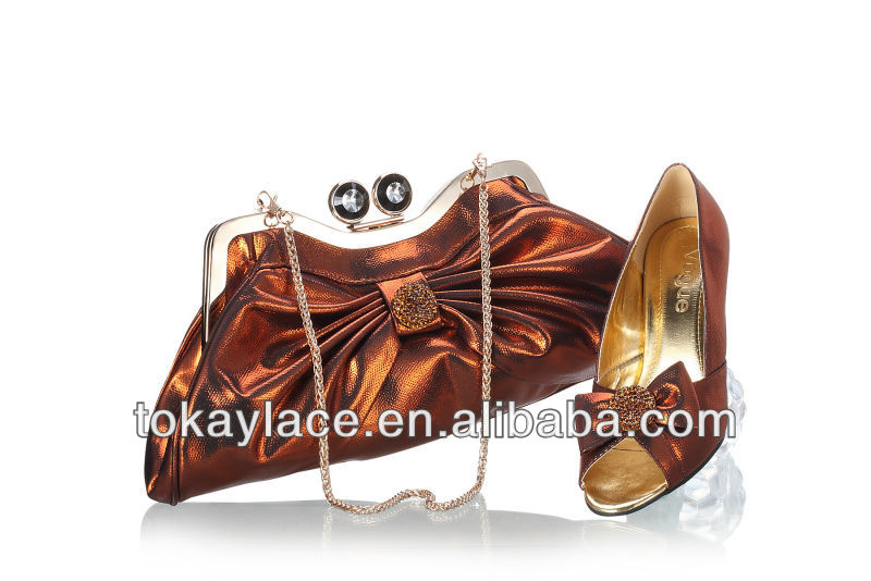 bag color and set lady coffee shoe high matching wedding arrival wholesale new in Italian quality qBRAfUTwnx