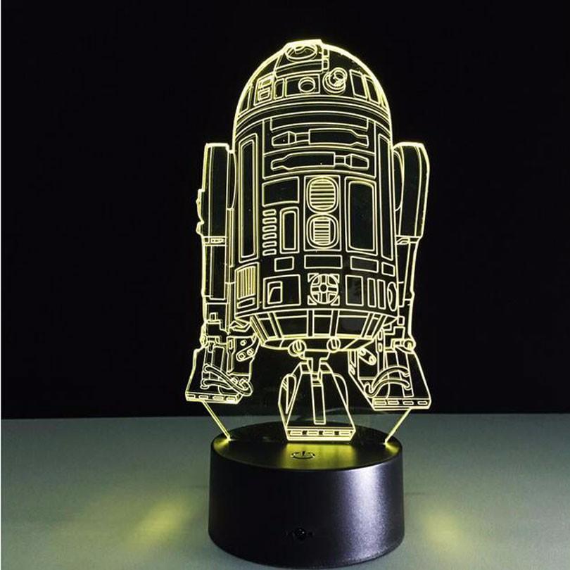 Jouets Visuelle Lumière Falcon Star Yoda Millennium Maître Lampe Vader Bb8 Bulbing 3d Créative Enfants Led Wars Ampoule Illusion Darth XkuPTZOi