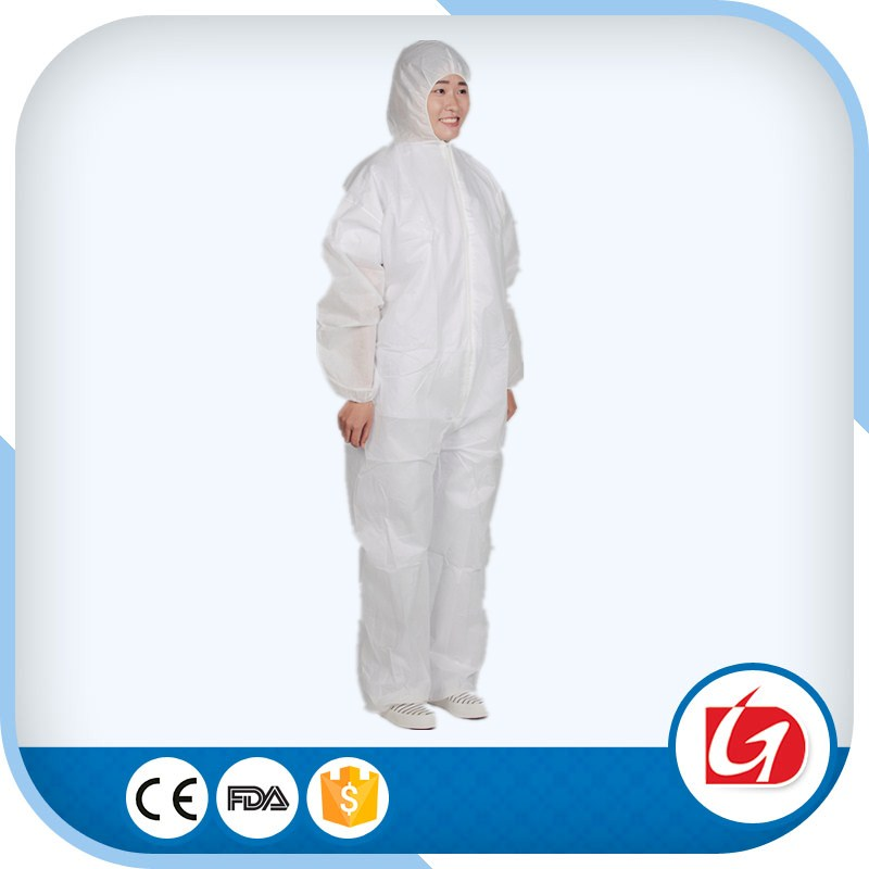 Disposable PP/SMS/Microporous plastic coverall/medical protective clothing