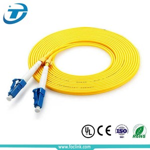 SM DX PVC 3mm 30 Meters LC/PC Fiber Optic Jumper Cable LC Fiber Optic Patch Cord