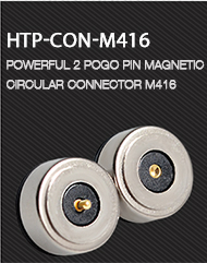 PCB 4 pogo pin magnetic self-mating locating connectors for magnetic contact