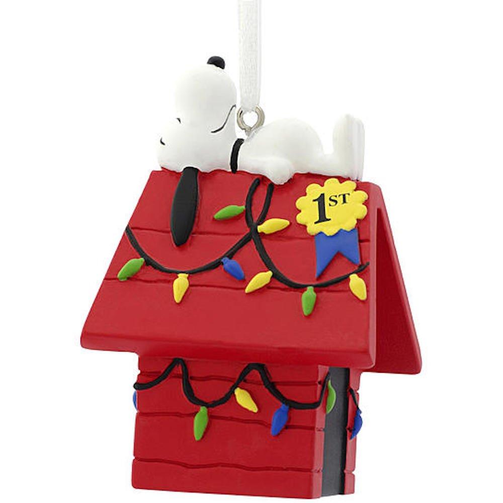 Hallmark Peanuts Snoopy on Doghouse Christmas Tree Ornament 2016