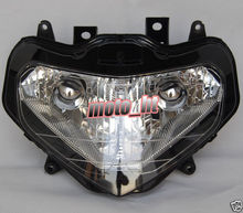 Headlight For Suzuki 01-03 GSXR 600 750 / GSX-R 2001 2002 2003, New Front Motorcycle Lighting Headlamp Replacements BLACK Color