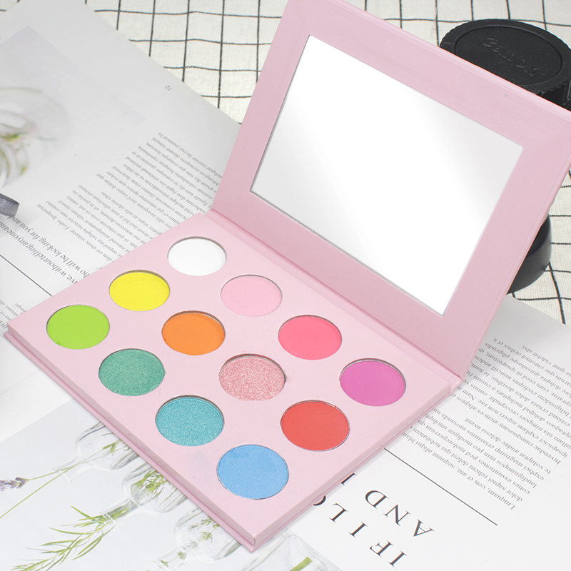 2018 makeup membuat private label kustom eyeshadow palette