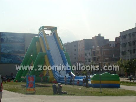 Commercial Inflatable slide for amusement park/inflatable water slide Z3009