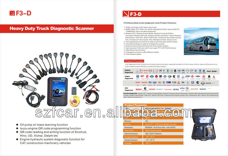FCAR F3-D diagnostic scan tool for diesel engine bus truck heavy duty vehicles factory diirect price